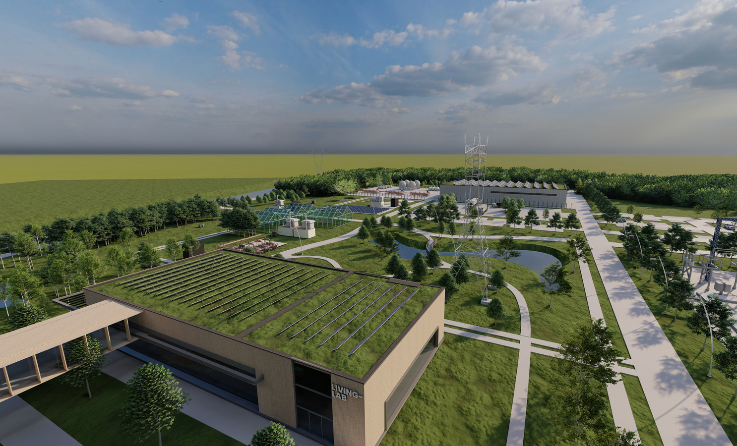 Een impressie van de toekomstige site van Fluvius in Mechelen.
