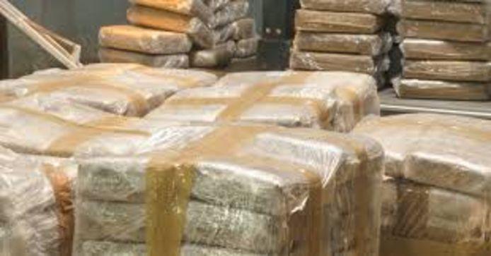De cocaïne zou in Peru uit de container zijn gehaald.