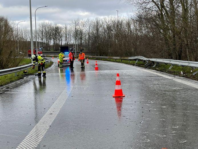 Ongeval afrit E40.