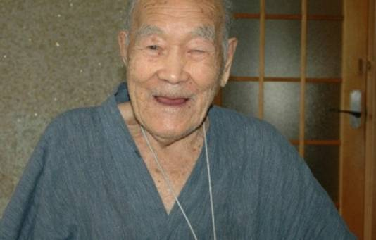 Masazo Nonaka, de oudste, nog levende, man ter wereld.