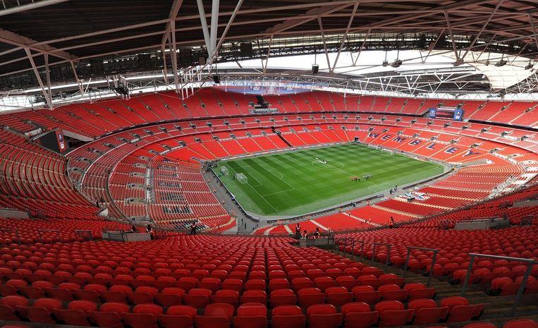 ONE TO WATCH: Wembley Park is de stopplaats voor het beroemde Wembley stadion. Hier zal de finale van het olympisch voetbaltoernooi gespeeld worden. Beeld EPA