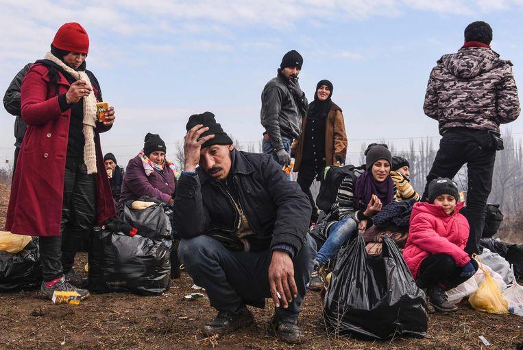 Migranten op weg naar Duitsland. 'Deze mensen komen hier aan in een absoluut beklagenswaardige toestand', zegt Lindemann. Beeld afp