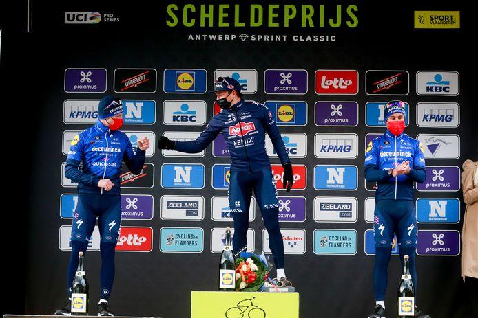 Het podium met Philipsen, Bennett en Cavendish.