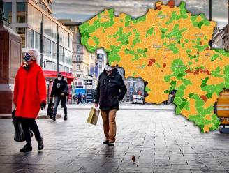 IN KAART. Deze gemeenten kennen al twee weken geen besmettingen meer, vier Vlaamse gemeenten kleuren nog rood. Bekijk hier de situatie in uw regio