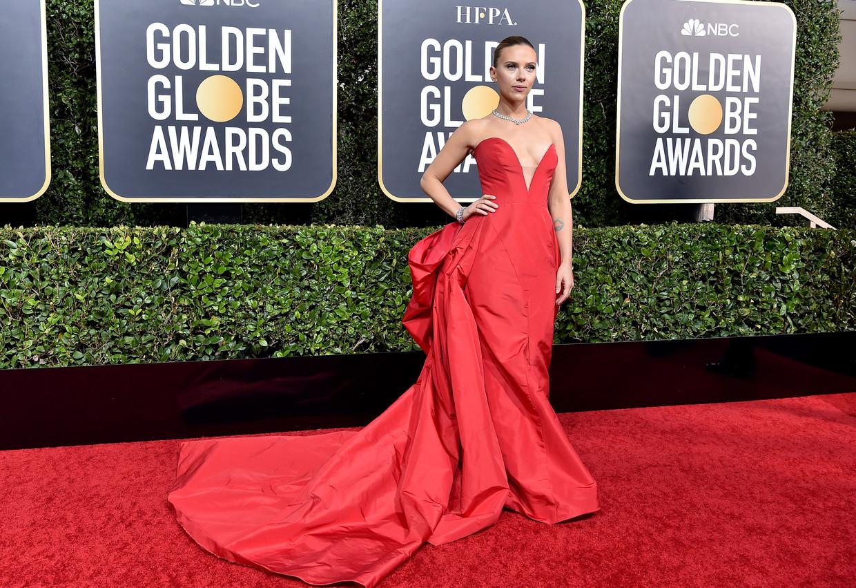 Scarlett Johansson bij de Golden Globes in 2020 Beeld FilmMagic