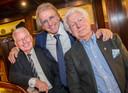 Henk Schouten (l) met Lee Towers en Gerard Cox.