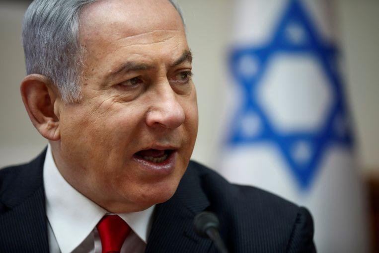 Premier Netanyahu.  Beeld Pool via Reuters