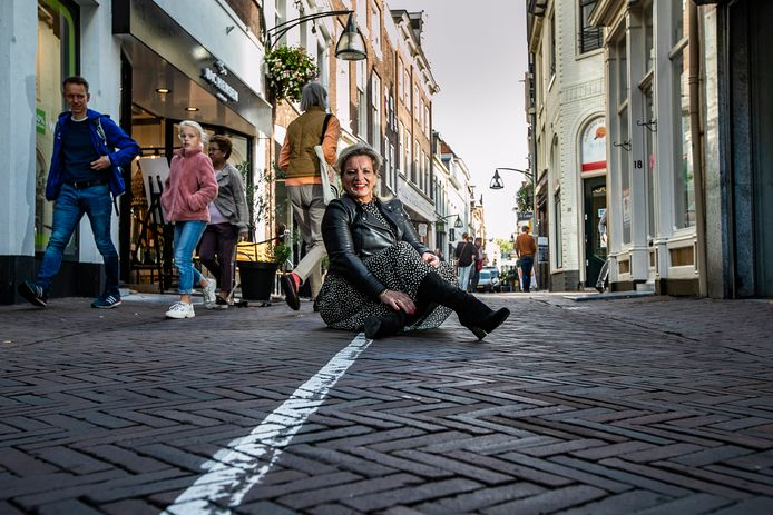 Maaike Westhoff op de Deventer 'wonderstreep'.