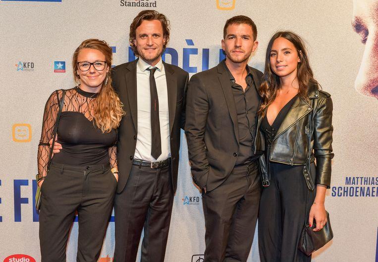 Tim Van Aelst en vriendin en Matteo Simoni met vriendin.