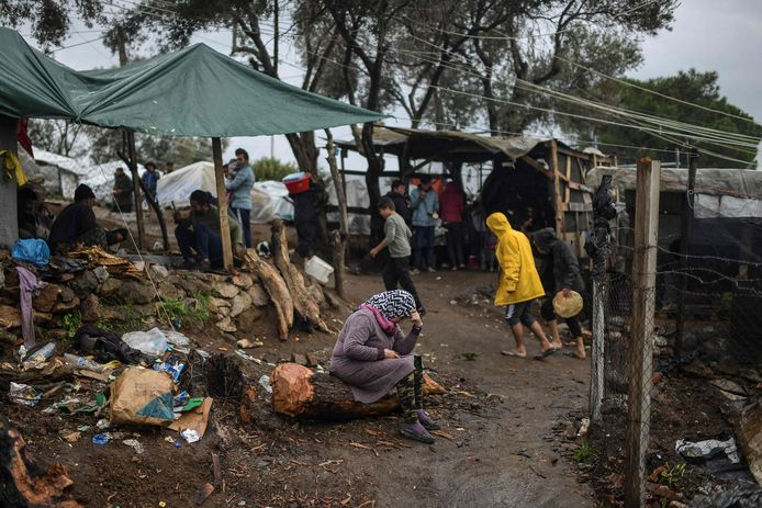 De situatie in het vluchtelingenkamp Moria op Lesbos.