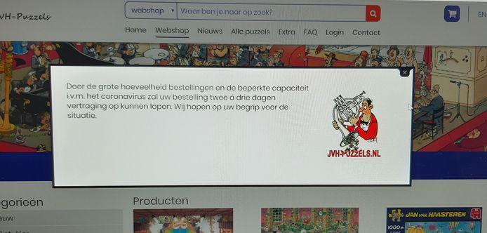 Het is druk op de site van JVH-puzzels. De legpuzzels van Jan van Haasteren zijn populair in coronatijd.