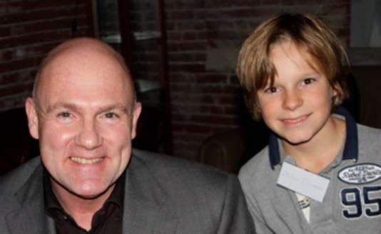 Oliver ontmoet zijn idool André Kuipers in 2012.