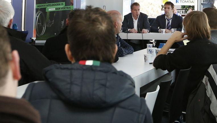 De persconferentie van AGOVV. Beeld Pro Shots