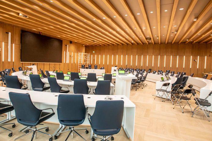 De nieuwe raadszaal in het Tilburgse Stadhuis.