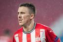 Ryan Thomas vond de nederlaag over twee wedstrijden tegen Olympiakos moeilijk te accepteren.