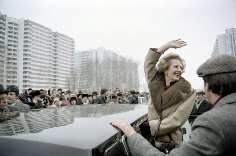 Archiefbeeld van Margaret Thatcher. Beeld AFP