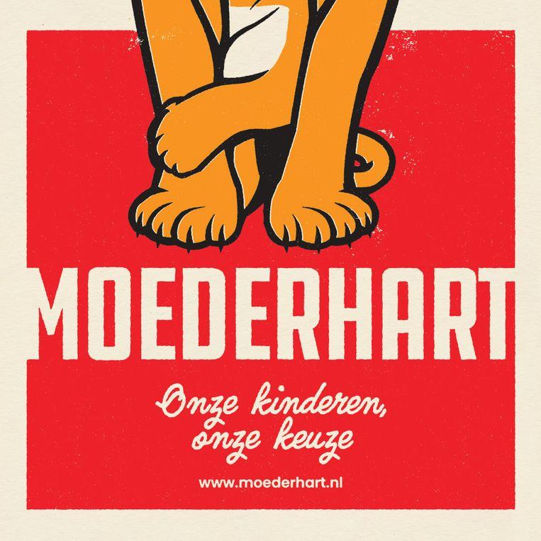 Het logo van Moederhart. Beeld