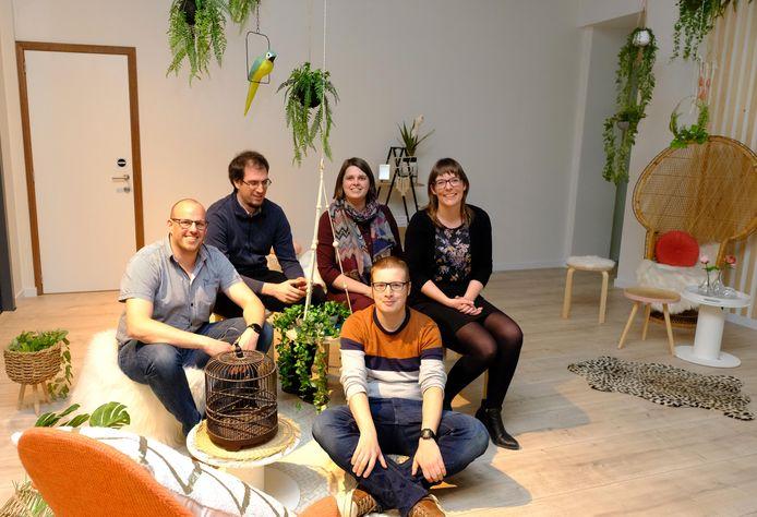 An Wuyts, Thomas Raes, Kevin Debbaut, Pieter Van Roosbroek en Els Hautekeete waren onder de indruk.
