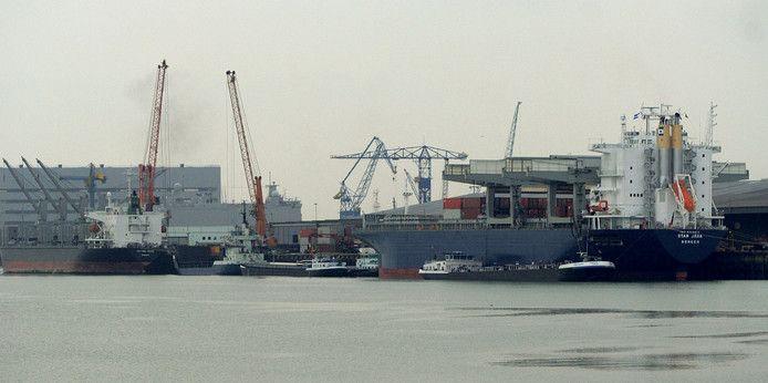 De haven van Vlissingen op archiefbeeld.