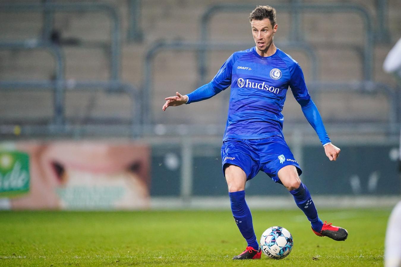 Bruno Godeau in actie in de verloren kwartfinale tegen Eupen.
