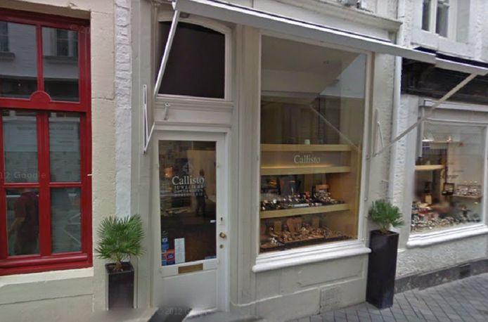 De juwelierszaak in Maastricht.