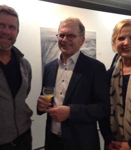 Op deze manier neemt de overleden kunstenaar Gertjan van der Stelt toch nog deel aan expositie