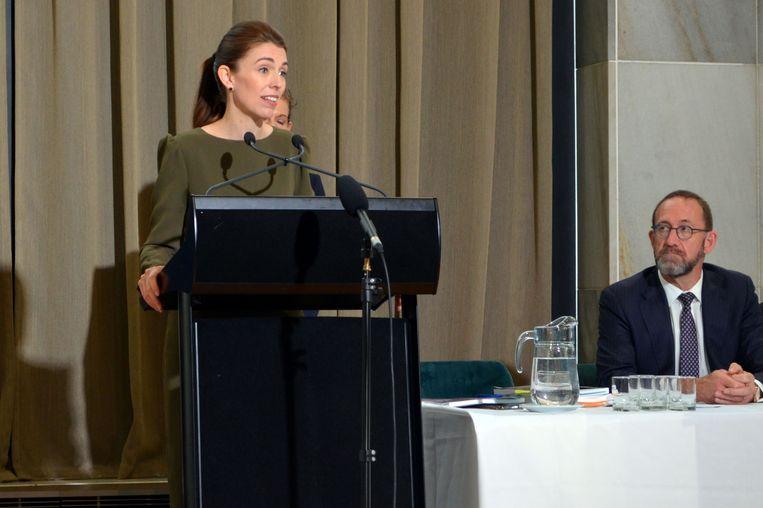 De Nieuw-Zeelandse premier Jacinda Ardern.  Beeld AFP