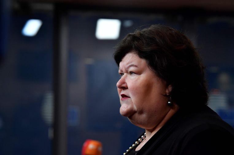 Minister van Volksgezondheid Maggie De Block. Beeld AFP