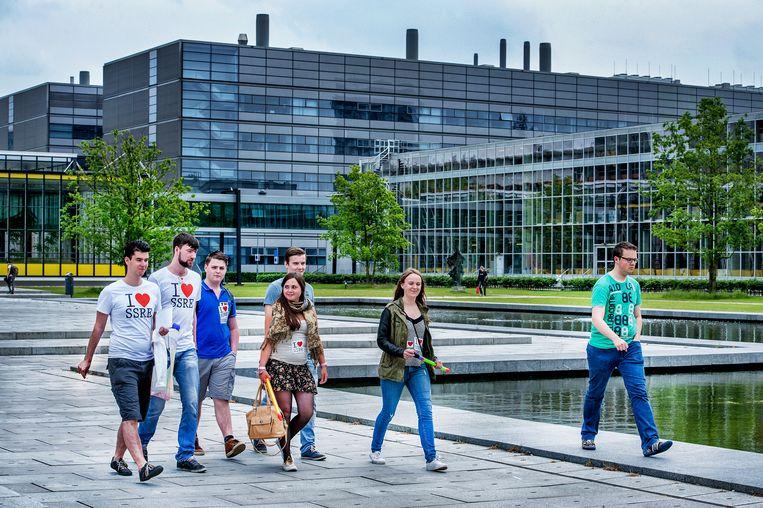 Studenten aan de TU Eindhoven. Beeld Raymond Rutting / De Volkskrant