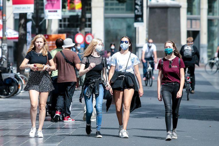 Iversen zou mondmaskers aanraden in landen met grote uitbraken, zoals nu België. Beeld Tomas Sisk / Photo News