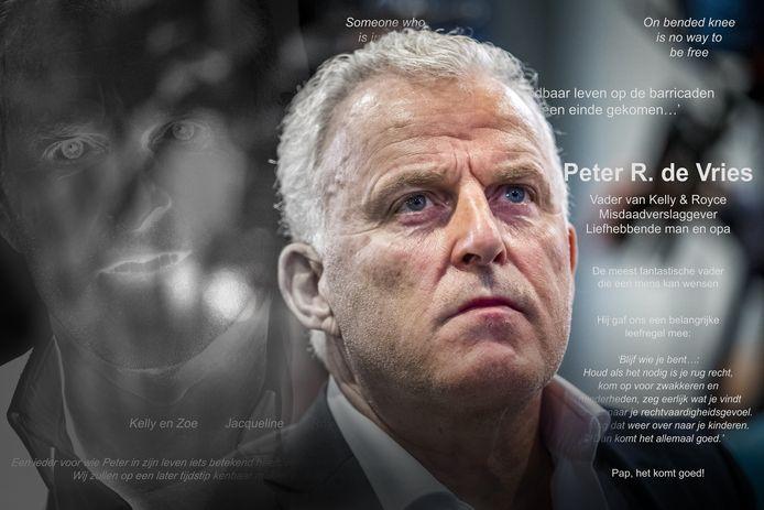 Peter R. de Vries werd zaterdag herdacht met een paginagrote advertentie in de dagbladen.