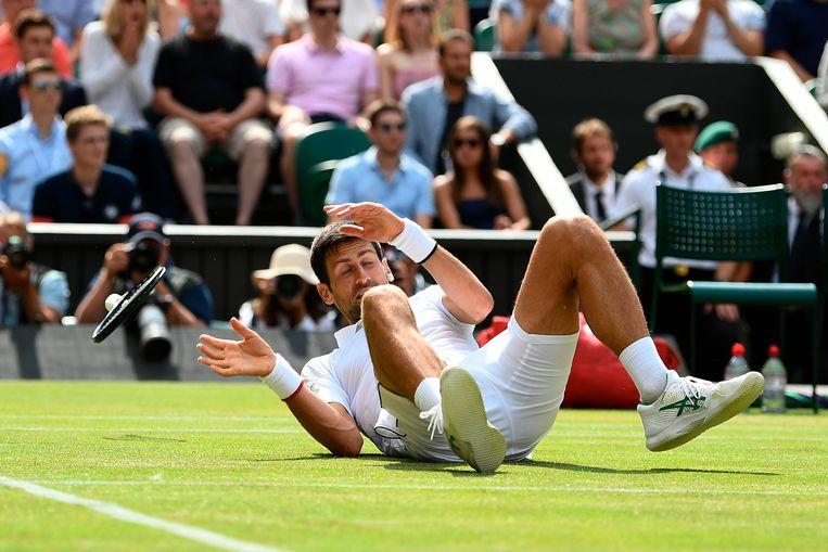 Deze val hield Djokovic niet tegen
