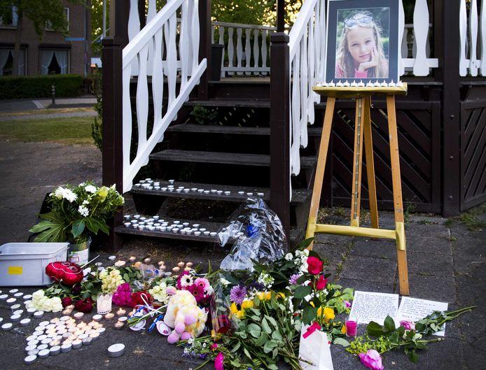 Een foto van Romy tijdens de herdenking