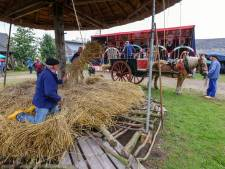 Een natte oogstdag bij het Boerenbondsmuseum in Gemert