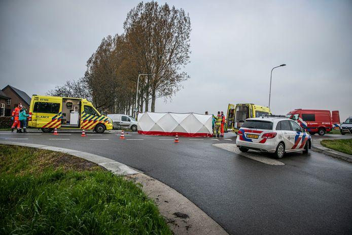 De motorrijder is omgekomen bij de aanrijding in Angerlo.