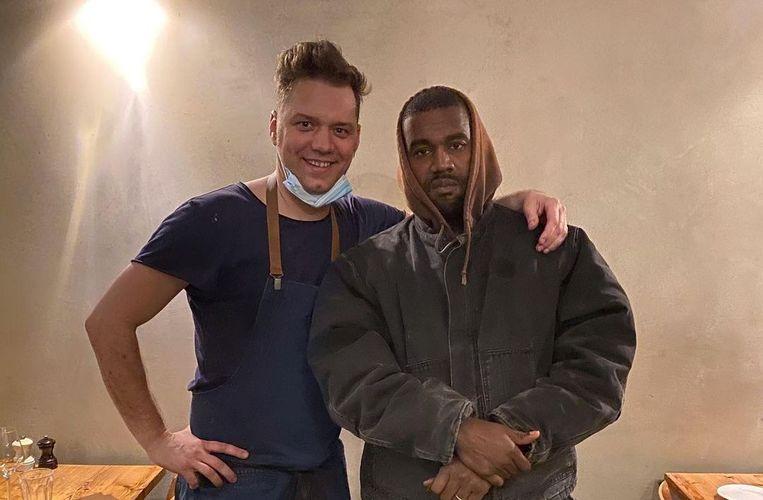 Kanye West in Antwerpen. Beeld Instagram