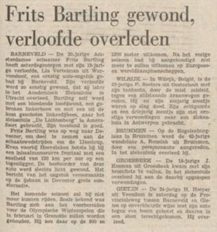 Trouw, 27 november 1967. Beeld Trouw
