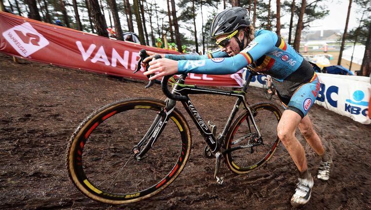 Femke Van Den Driessche bij de wereldkampioenschapen cyclocross in Heusden-Zolder. Beeld afp