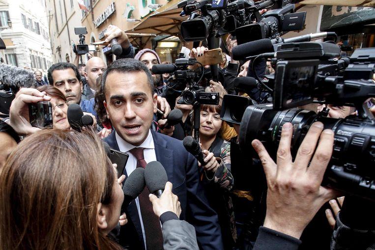 Luigi Di Maio van de Vijfsterrenbeweging. Beeld EPA