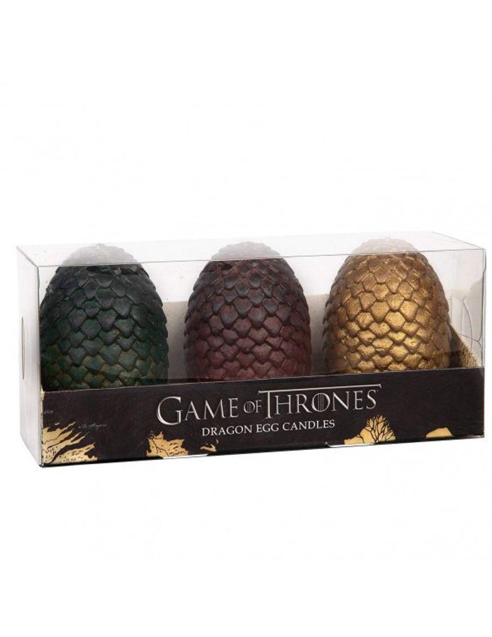 Trois bougies en forme d'œufs de dragon de Khaleesi
