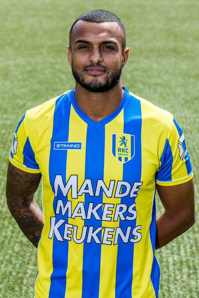 Mario Bilate in het shirt van RKC Waalwijk.