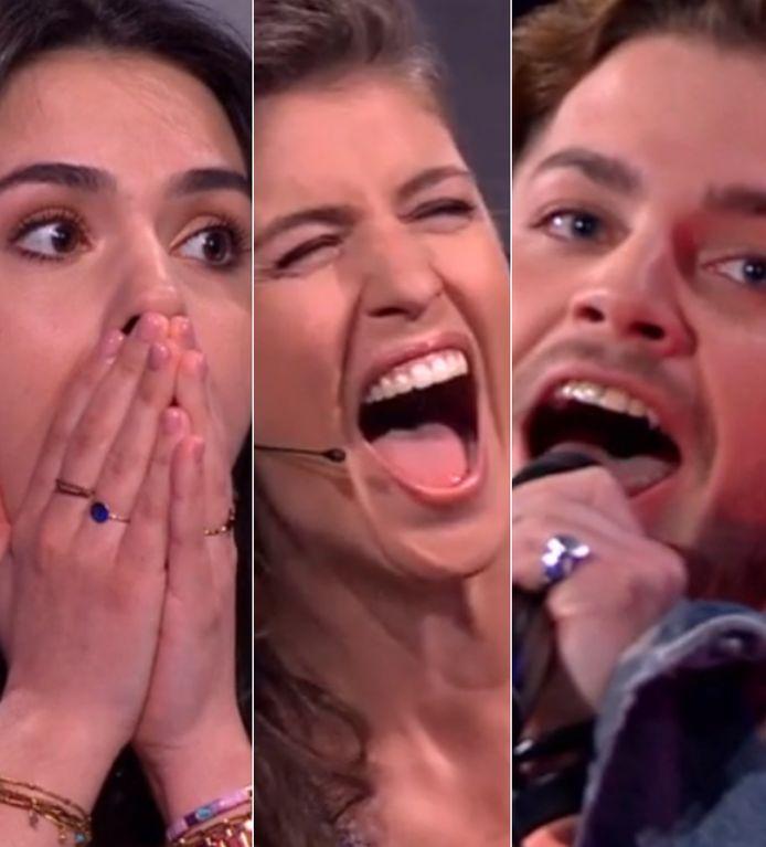 Svenja en Marieke wisten niet wat ze hoorden toen Fabiano ging zingen.