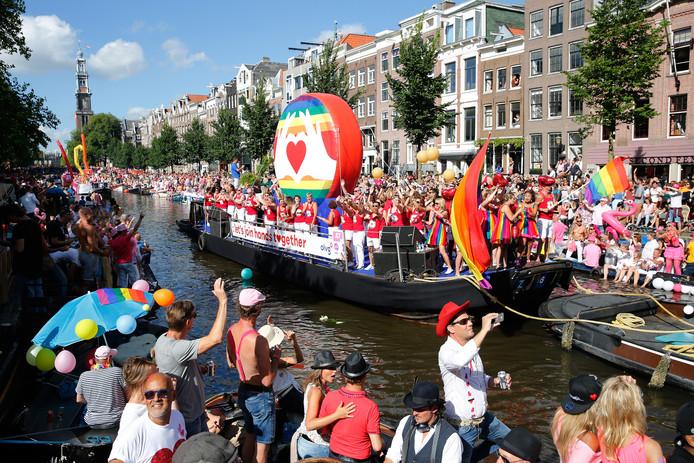 De Canal Parade in Amsterdam