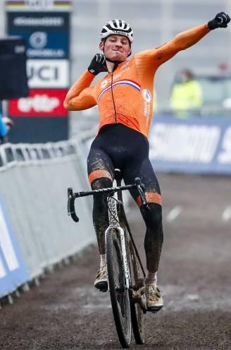 Van der Poel rijdt naar vierde wereldtitel veldrijden in Oostende, Van Aert tweede na dure lekke band