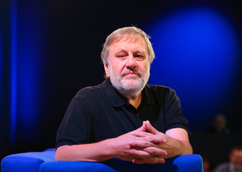 Zizek op de Frankfurtse boekenbeurs in 2018