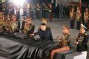 Kim Jong-un in Pyongyang op een herdenkingsbijeenkomst voor het einde van de Koreaanse oorlog.