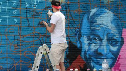 Mural op gevel leegstaand Spillebad toont gezichten uit nieuw VTM-programma 'De Zomer Van'
