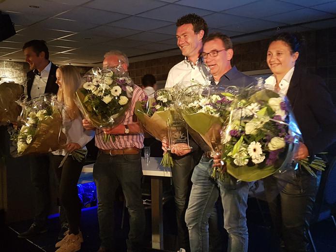De prijswinnaars van de Achterhoekse Voetbalnacht.