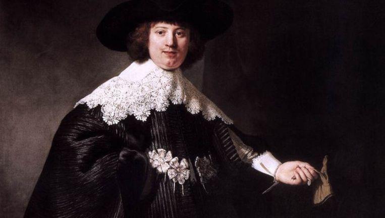 De portretten die Rembrandt in 1634 maakte van Maerten Soolmans en Oopjen Coppit. Beeld Rembrandt
