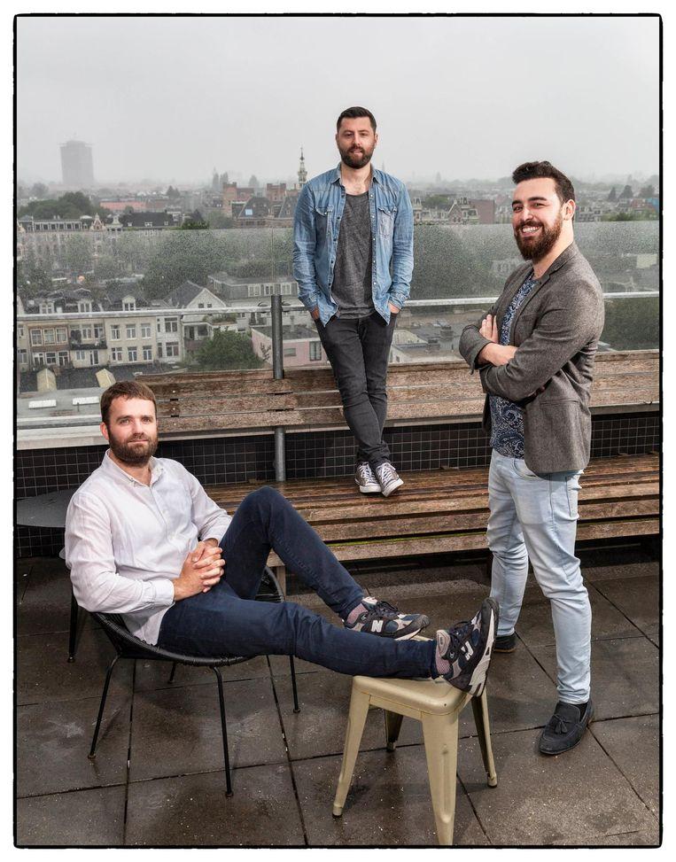 Van links naar rechts: Bart Ongering, Yasin Yaylali en Emin Kececi Beeld Marco Okhuizen